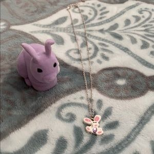Easter Bunny Necklace and Box